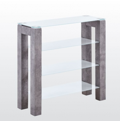 Tivoli Low Display Unit - Glass and Concrete Effect