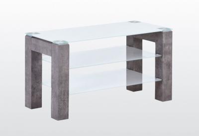 Tivoli TV Unit - Glass and Concrete Effect