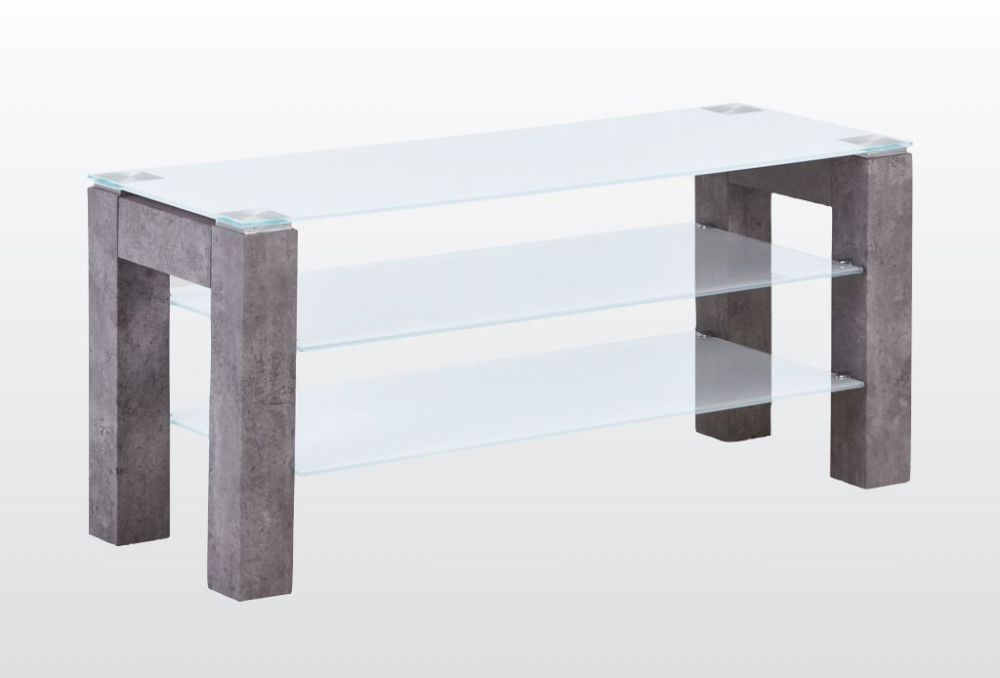 Tivoli Standard TV Unit - Glass and Concrete Effect