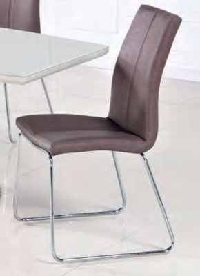 Toscana Brown Leather Dining Chair (Pair)