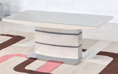 Toscana Champagne Glass Top Coffee Table
