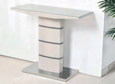 Toscana Champagne Glass Top Console Table