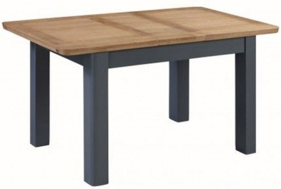 Treviso Midnight Blue and Oak Extending Dining Table