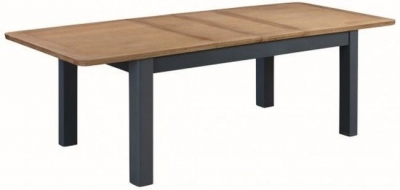Treviso Midnight Blue and Oak Large Extending Dining Table