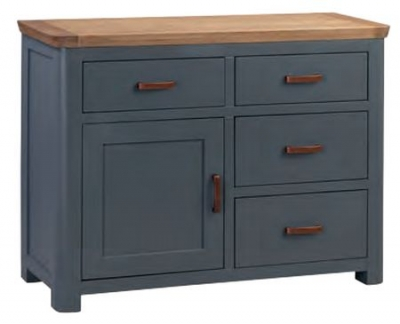 Treviso Midnight Blue and Oak Sideboard
