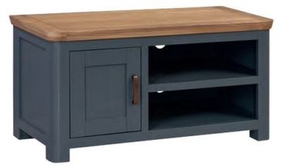 Treviso Midnight Blue and Oak Standard TV Unit