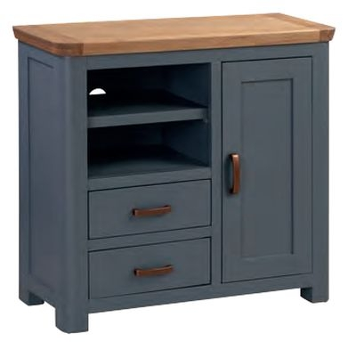 Treviso Midnight Blue and Oak TV Unit