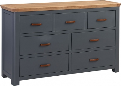 Treviso Midnight Blue and Oak 3+4 Drawer Chest
