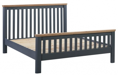 Treviso Midnight Blue and Oak Bed