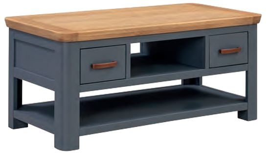 Treviso Midnight Blue and Oak Standard Coffee Table