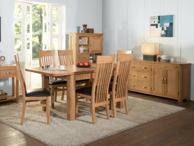Treviso Oak Large Extending Dining Table and 6 Chairs