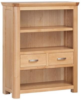 Treviso Oak Low Bookcase
