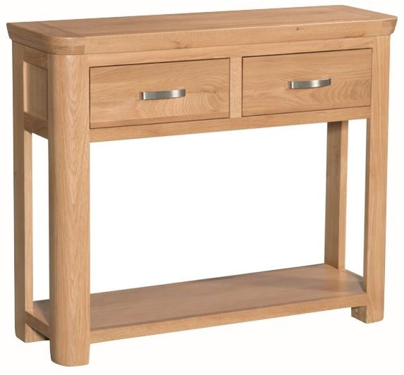 Treviso Oak Console Table - Large