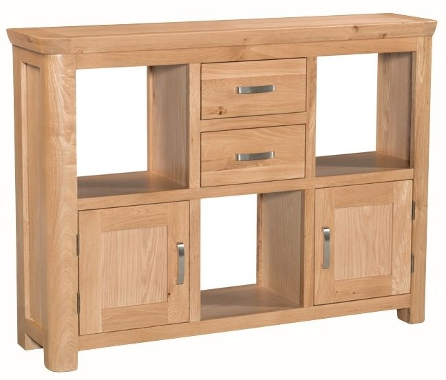Treviso Oak Display Unit  - Low