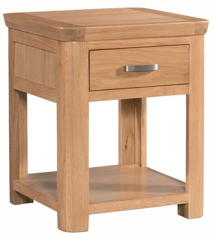 Treviso Oak End Table with Drawer