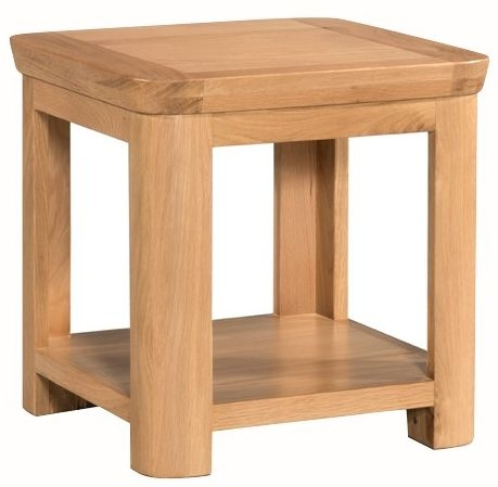 Treviso Oak Lamp Table