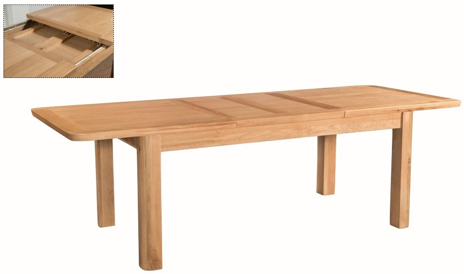 Treviso Oak Butterfly Extending Dining Table