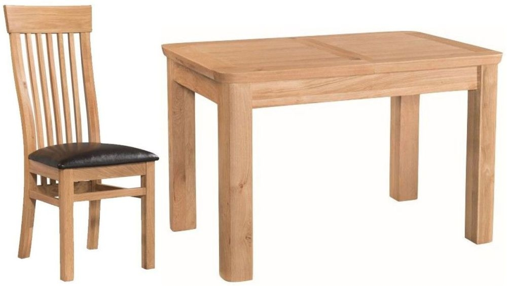 Treviso Oak Dining Set - 4ft Extending with 4 Chairs