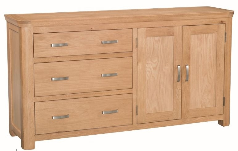 Treviso Solid Oak 2 Door 3 Drawer Sideboard