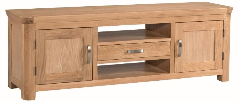 Treviso Oak TV Unit - Wide