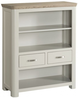 Treviso Low Bookcase - Oak and Painted