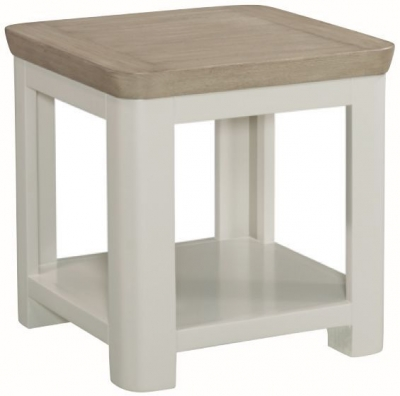 Treviso Lamp Table - Oak and Painted