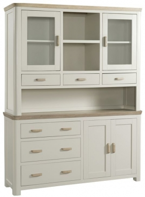 Treviso Large Buffet Hutch - Oak and Painted