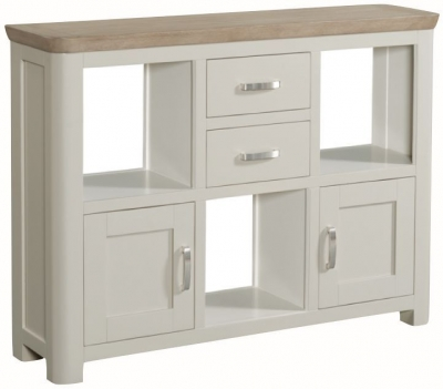 Treviso Low Display Unit - Oak and Painted
