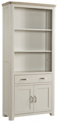 Treviso Tall Bookcase - Oak and Painted