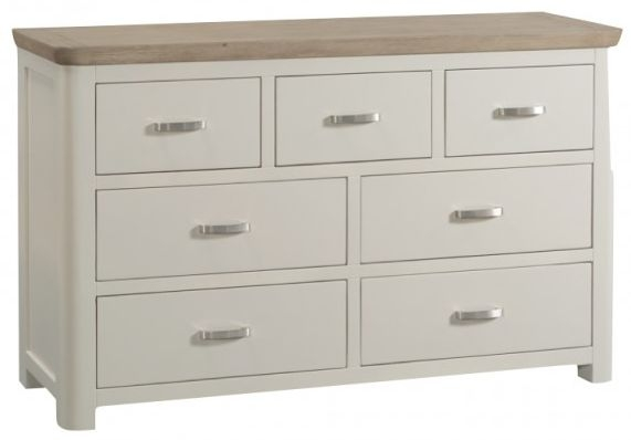 Treviso 3+4 Drawer Chest - Oak and Painted