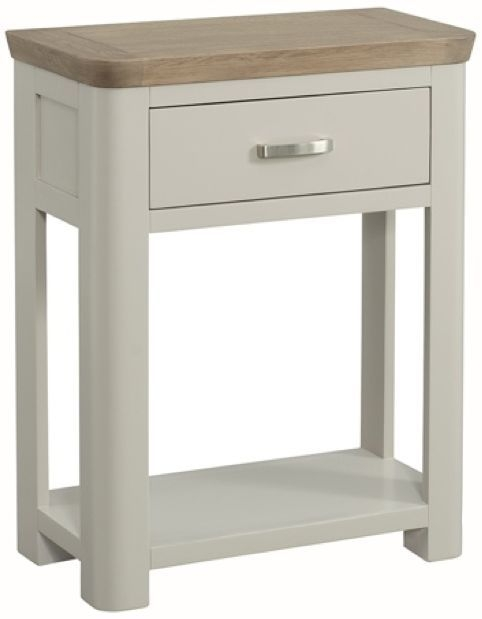 Treviso Console Table - Oak and Painted