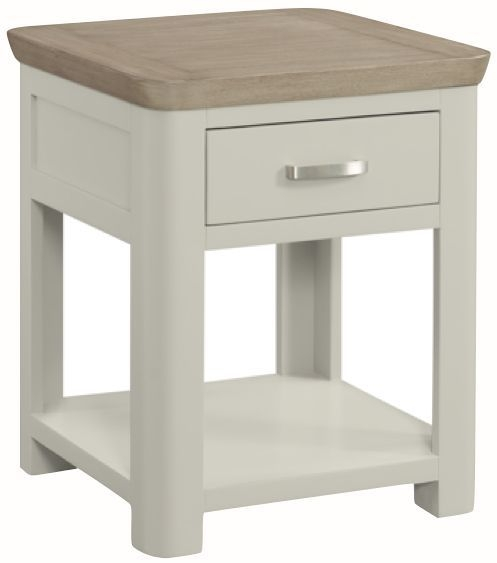 Treviso End Table - Oak and Painted