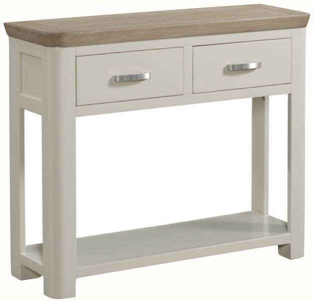 Treviso Large Console Table - Oak and Painted
