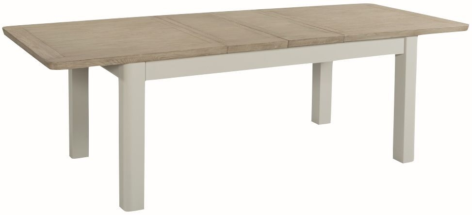 Treviso Large Extending Dining Table - Oak and Painted