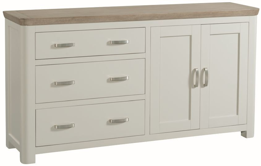Treviso Large Sideboard - Oak and Painted