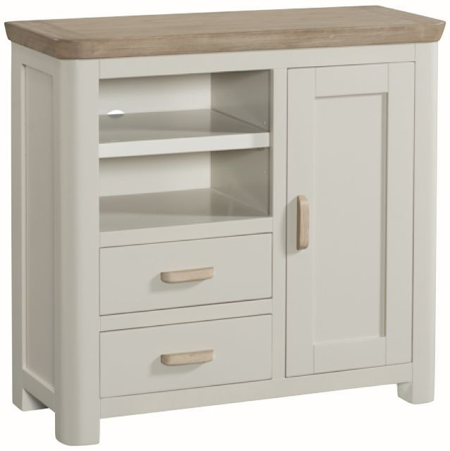 Treviso Media Unit Sideboard - Oak and Painted