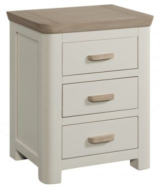 Treviso Painted 3 Drawer Nightstand