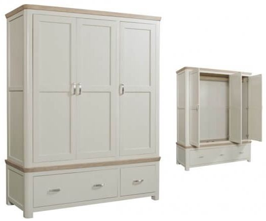Treviso 3 Door Wardrobe - Oak and Painted