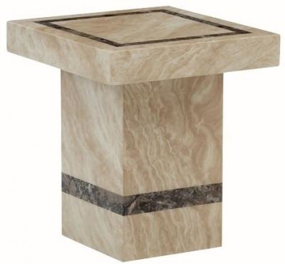 Vittoria Marble End Table - Rectangular