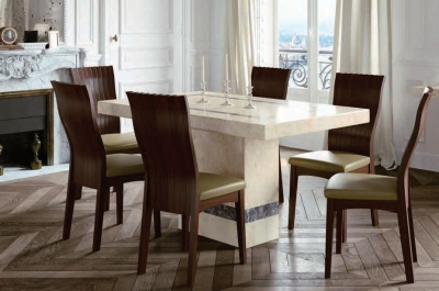 Vittoria Marble Dining Set - 5ft with 6 Chairs