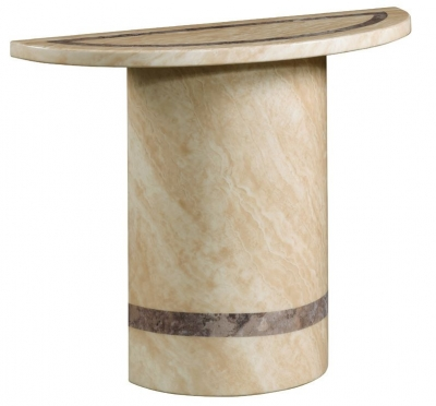 Vittoria Marble Console Table - Semi Oval