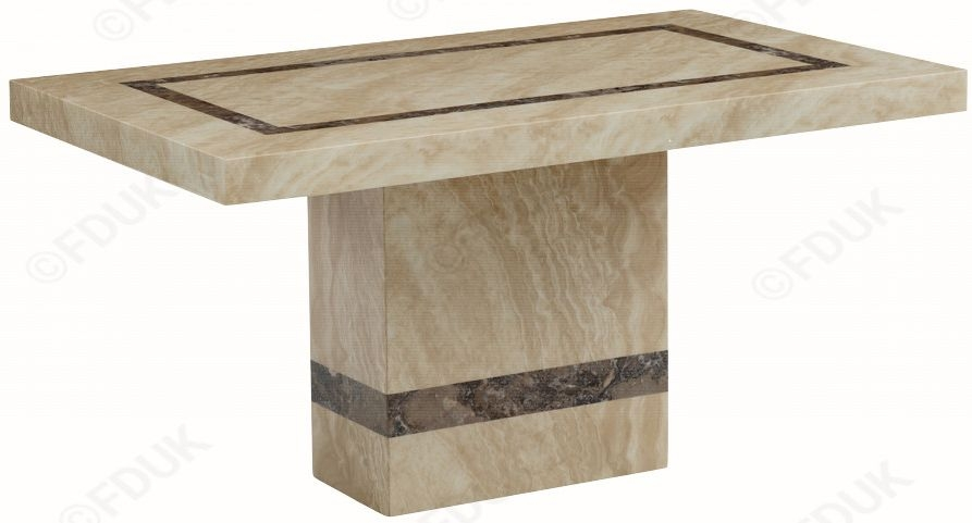 Vittoria Marble Rectangular Dining Table - 150cm