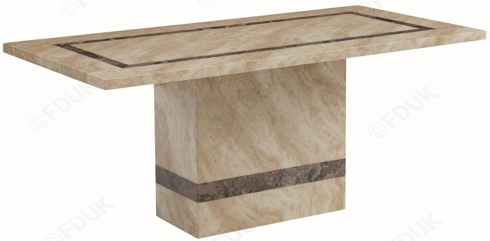 Vittoria Marble Dining Table - 6ft
