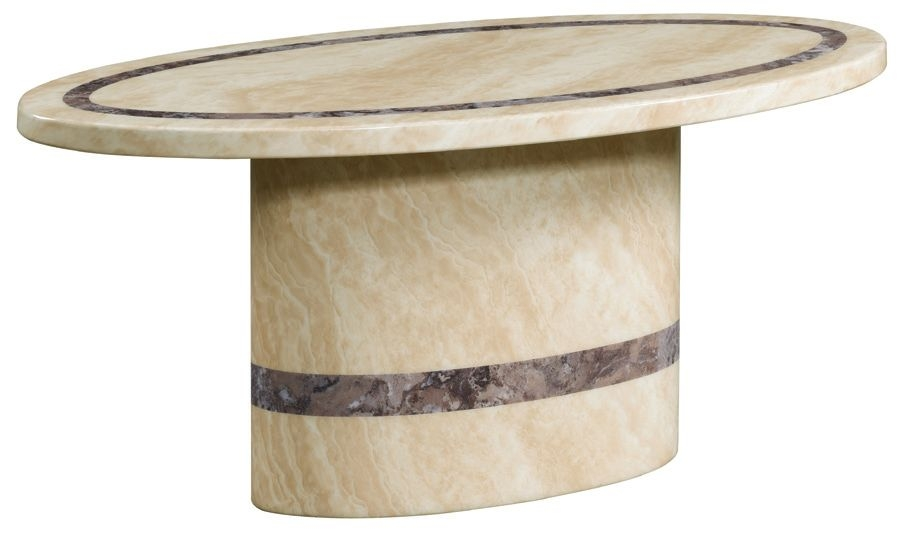 Vittoria Marble Coffee Table - Oval
