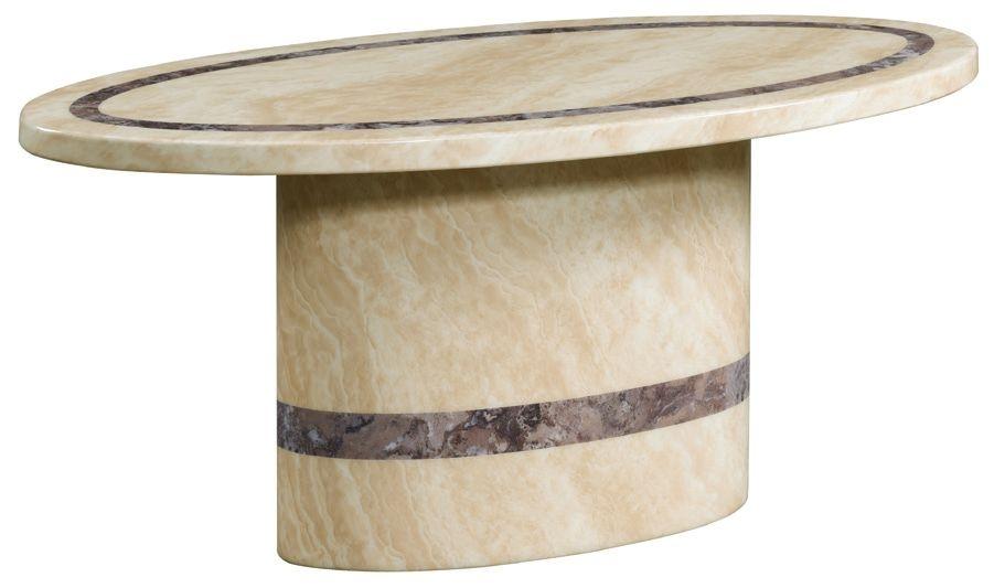 Vittoria Marble Oval Coffee Table
