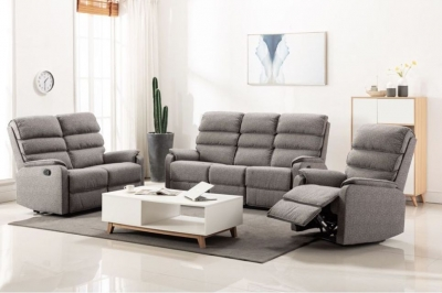 Westport Charcoal Fabric 3+2+1 Seater Sofa Suite