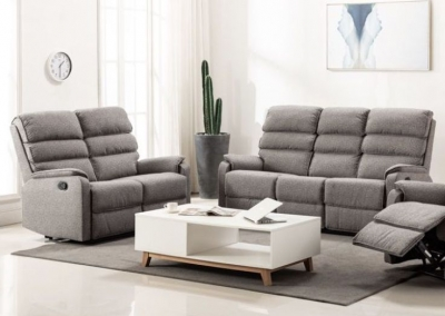 Westport Charcoal Fabric Sofa Suite