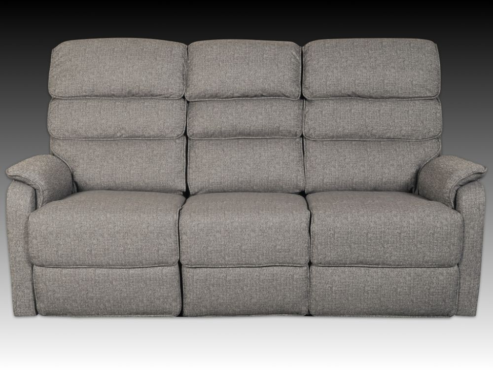 Westport Charcoal Fabric 3 Seater Dofa