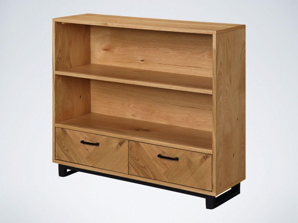 Panama Oak Low Bookcase