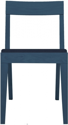 Cubo Blue Dining Chair with Blue Upholstered Seat Pad